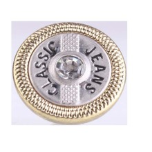 Custom Engraved Logo Metal Jeans Button