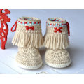 Baby Crochet Booties Photo Native American Style Baby Shoes