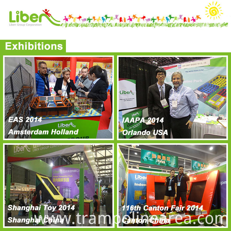 exhibitions of customized trampoline park for adult