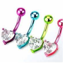 Barriga colorida umbigo piercing ombligo barriga jóias anel