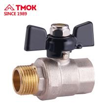 Hembra de alta calidad * Hilo masculino DN15 Precio de válvula de bola de agua de latón de dos vías en china taizhou