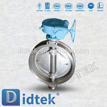 Didtek Triple Offset DN80 PN16 Válvula Borboleta tipo Wafer