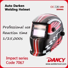 Solar Powered Auto darkening Welding Helmet welding mask with CE approval Code.7067