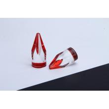 Base vermelha da pirâmide dos marcadores de roleta transparentes