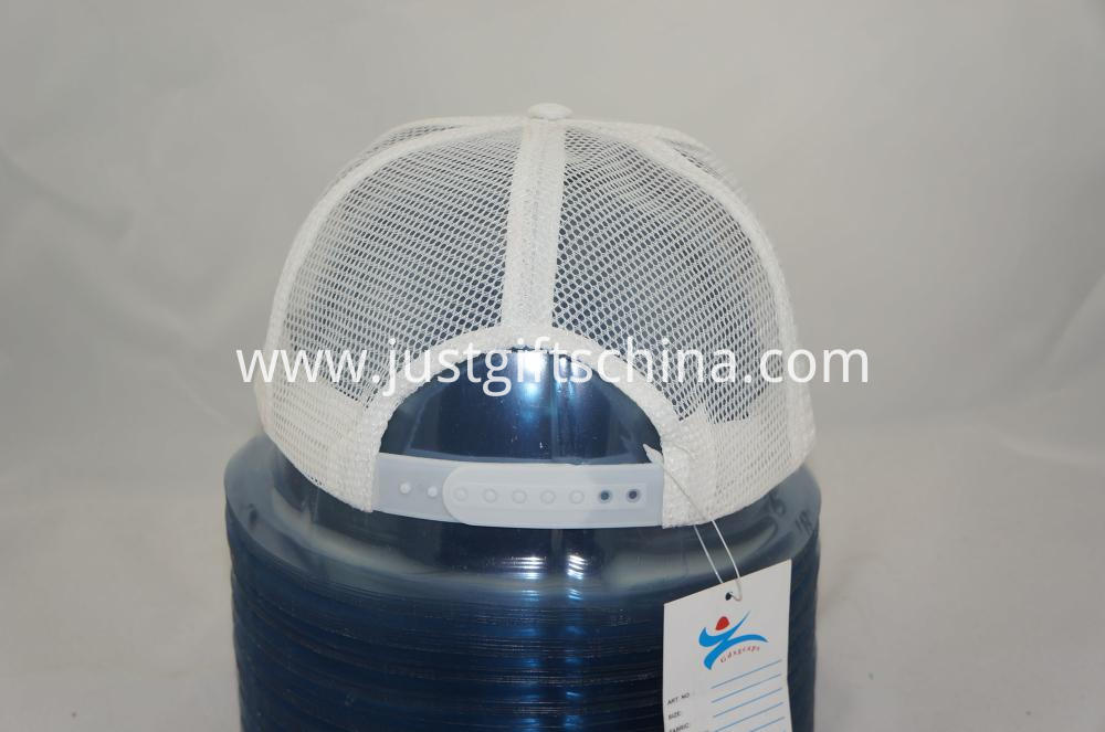 Promotional Imprinted Polyester Cap w Mesh Back and Plastic Buckle (2)