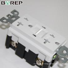 Tomacorriente eléctrico a prueba de agua 20A 125V GFCI