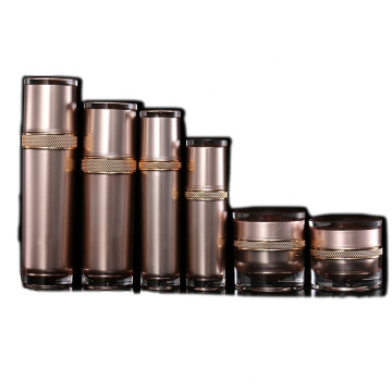 High-grade round flower cosmetics  acrylic bottle/jars with good price
