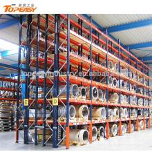 Sistema de estantería de palets de doble rejilla de alta resistencia