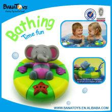 Lovely plástico bebê borracha bebê brinquedos elefante conjunto