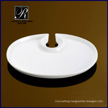 PT-0814 porcelain plate with glass holder