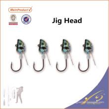 JHL022 Chaude en gros leurre de pêche échantillon gratuit jig tête