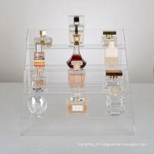 Bouteilles de parfum ou de cosmétiques Retail Acrylic Display Steps