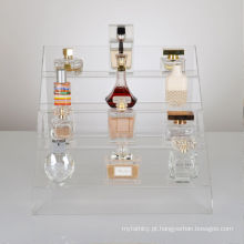 Perfume ou Cosméticos Bottle Retail Acrílico Display Steps