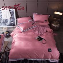 Hotel de luxo Conjunto de Cama 100% algodão cor listrado 60 S 300TC jade Precioso