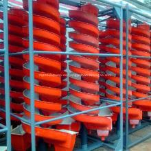 Canaleta espiral de gravedad para la planta de lavado de mineral de cromita
