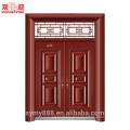 Porte double en acier d'entrée de conception chinoise de haute catégorie - - personnalisé