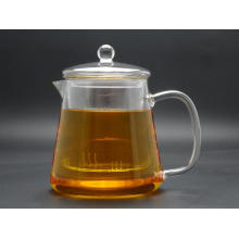 Useful Gift Hand Heat Resistant Borosilicate Glass Tea Pot with Tea Strainer