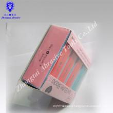 Abrasive type nail polish sanding buffer block