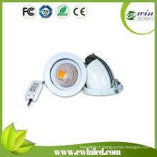 Taille de coupe 175mm COB Rotatif LED Downlight avec 3 ans de garantie