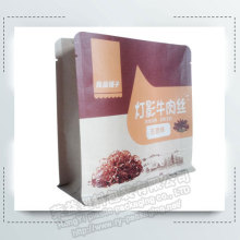 Eight sides sealing Flat Bottom Food Paper Bag