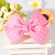 High quality cheap wholesale ribbon hair bow / grosgrain ribbon bows