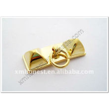double pyramid bag hardware decoration