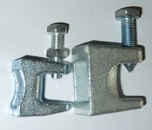Zinc Plated c-type throat opening cast iron beam clamp