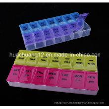 2015 Heißer verkaufender Plastikmultifunktions-Pille-Kasten Plb20