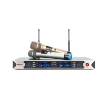 2 Channels Professional UHF Wireless Microphone with Two Handhelds or Two Transimitters