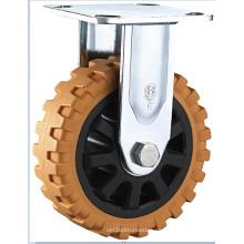Rótula doble de la rueda del cojinete de la rueda resistente de la PU, núcleo de los PP con la rueda de la cubierta de acero