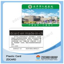 Carte en papier Carte en plastique Carte PVC Carte VIP