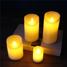 Flameless Real Wax Pillars Dancing LED-ljus