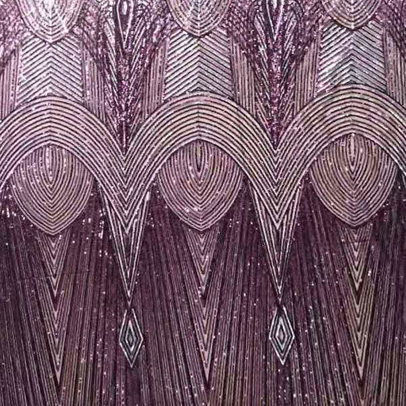 Mesh Embroidery Lace Fabric in Stock