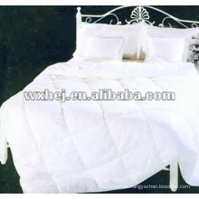 100% cotton white quilted comforter bedding set