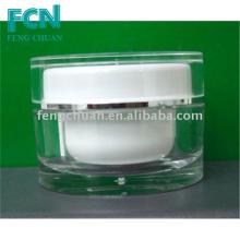 Boîte à cosmétiques à base de plastique transparent en acrylique