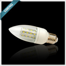 C40 6W 45PCS 2835SMD PC LED Corn Candle Light 500LM