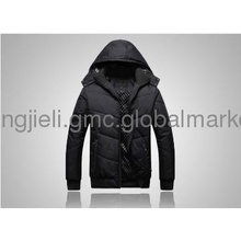 Hooded warm cotton-padded clothes wear leisure  man jacket