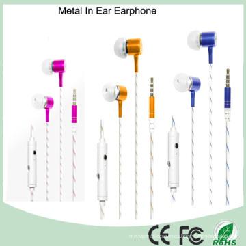 Promocional 3.5mm estéreo de metal en el auricular del oído (K-913)
