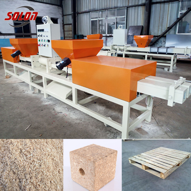 Wood Pallet Foot Block Making Line