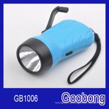 LED Wind up Crank Dynamo lanterna recarregável