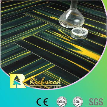 Suelo laminado resistente al agua de la teca del espejo comercial de 12.3mm