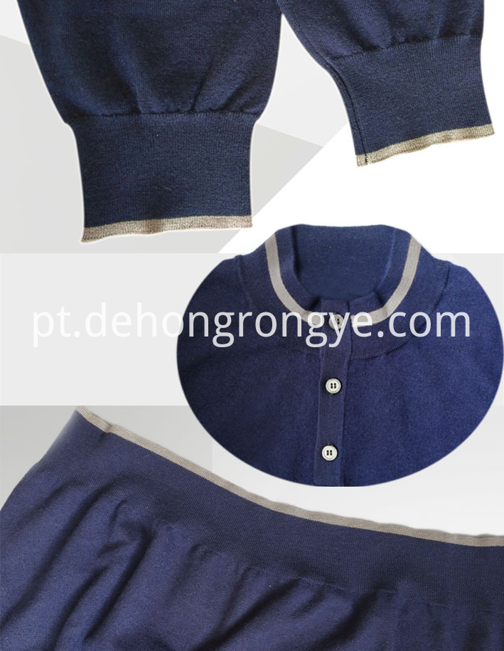 Navy Blue Half High Collar Worsted Cashmere Man S Cardigan