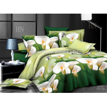 100% polyster printed scenery 3D bedding set
