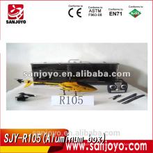 La caja de aluminio SJY-R105 embaló el helicóptero inalámbrico del rc del metal de 3.5 canales con el girocompás