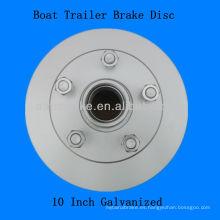 Remolque para barcos Disco de frenos de galvanizado 10 pulgadas