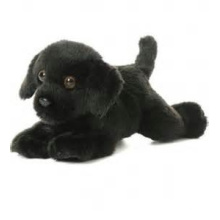 ICTI Audited Factory black dog plush toys