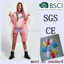 Customized Logo Promotional Disposable Rain Poncho