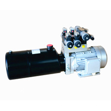 Small hydraulic power unit for tire changing