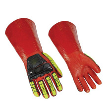 Cool Design Brand Long Guantes de cuero de PU