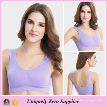 Colorful Single Layer Gym Seamless Genie Bra with Pad (FG5855)